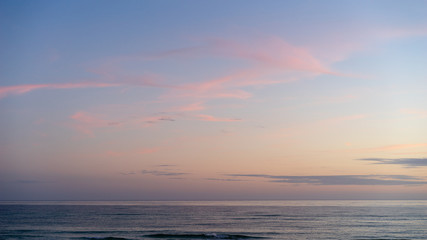 Pink and Blue Twilight Seascape