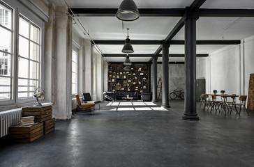 Interior of loft flat