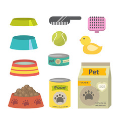 Pet care accessories isolated on a white