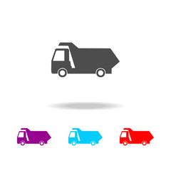 tipper icon. Elements of cars in multi colored icons. Premium quality graphic design icon. Simple icon for websites, web design, mobile app, info graphics