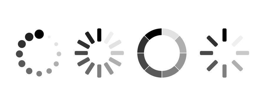 set of loading icons. load. load bar icons