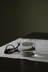Water with glasses