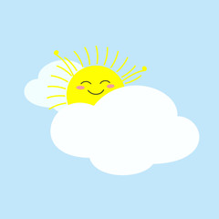 Happy sun just woke up and stretching