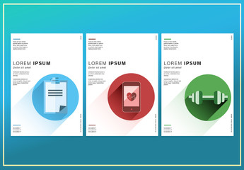3 Flyer Layouts with Activity Illustrations