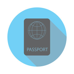 Passport icon. Elements of airport in flat blue colored icon. Premium quality graphic design icon. Simple icon for websites, web design, mobile app, info graphics