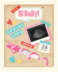 Baby Scrap Album Realistic