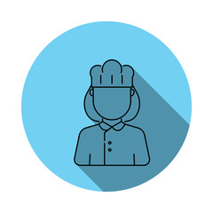 woman cook avatar icon. Elements of avatar in flat blue colored icon. Premium quality graphic design icon. Simple icon for websites, web design, mobile app, info graphics