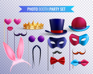 Photo Booth Masks Set