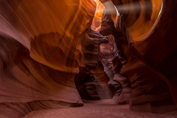 Upper Antelope Canyon in the Navajo Reservation.