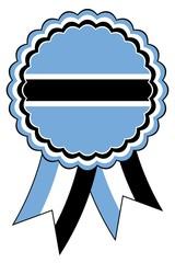 Botswana Emblem vektor in den originalen Nationalfarben hellblau, weis und schwarz.
