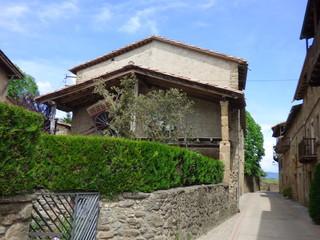 Hostalets de Bas, pueblo de La Garrocha que forma parte del municipio de Vall de Bas en la provincia de Gerona (Cataluña,España)