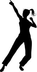 very beautiful dancing silhouettes