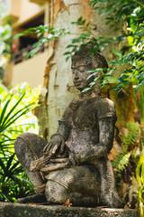 A beautiful stone statue of Buddha