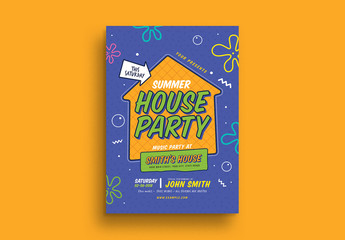 House Party Event Flyer Layout