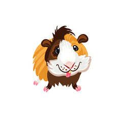 funny guinea pig clipart illustration vector