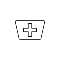 nurse cap line icon. Element of simple medicine icon for mobile concept and web apps. Thin line nurse cap icon can be used for web and mobile