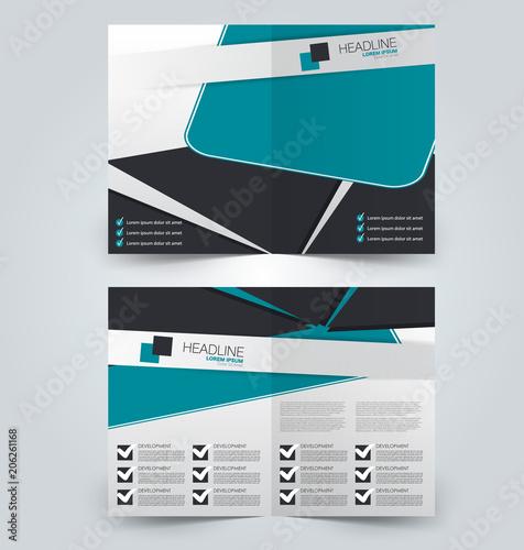 Fold brochure template. Flyer background design. Magazine or book ...