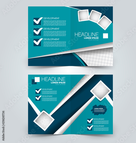fold brochure template flyer background design magazine or book