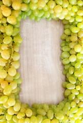 pannello con uva bianca da tavola