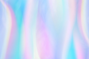 Iridescent background. Holographic Abstract soft pastel colors backdrop. Mesh Holographic Foil Backdrop. Trendy creative vector cosmic gradient for brochure, flyer, poster design, banner, cover.