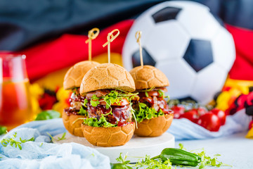 Weltmeister Burger brot in Ball form