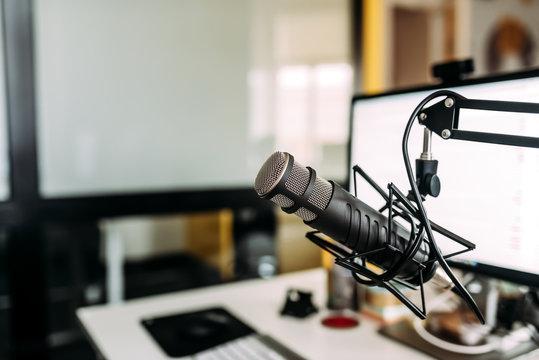 Home podcast studio