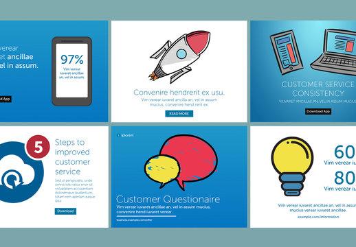 6 Customer Service Social Media Post Layouts