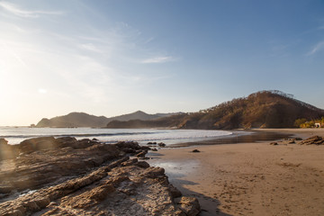 paradise on the beach, a beautiful sunset in san juan del sur