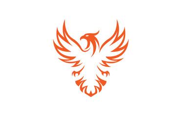 Creative Phoenix Bird Logo Design Illustration