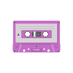 cassette tape vintage object on white background