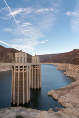 Colorado River and Blue Skies from Hoover Dam