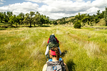 Backpackers in Henry Coe State Park, CA