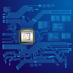 circuit board and processor illustration