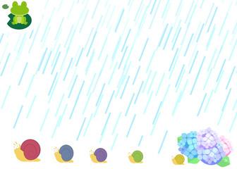 梅雨時の背景