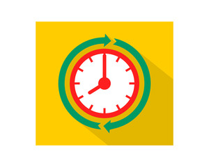 timer clock business company office corporate image vector icon logo