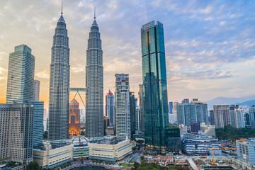 マレーシア ツインタワーの風景