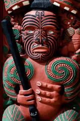 Traditional Maori Toi whakairo (art carving)