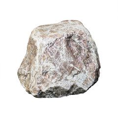 big stone isolated on white background with clipping path