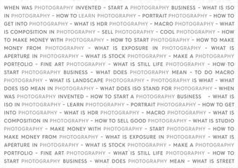 Photography Grey Keywords Marketing Concept. Photographs Poster on White Background.