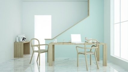 The interior relax space 3d rendering minimal