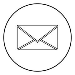 Letter icon black color vector illustration simple image