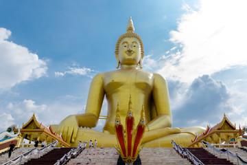 THE BIGGEST BUDDHA at Wat Muang Angthong, Thailand