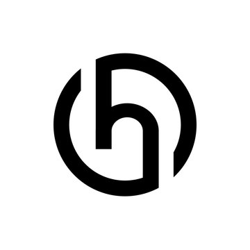 Initial Letter H Logo Design, Black Alphabet H Icon, Vector Illustration