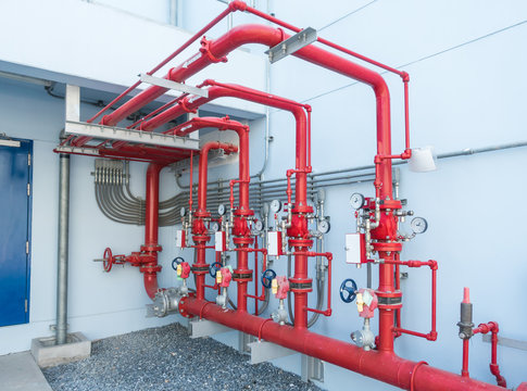 Water sprinkler and fire alarm system, water sprinkler control system and pipelines of industrial.