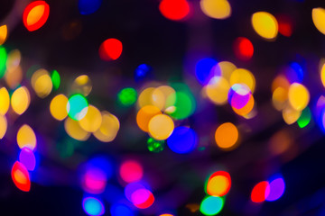 The Abstract background with shining bokeh multi colour image.