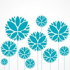 affiche, carte fleur bleue