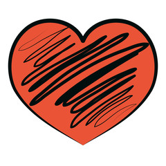 graphic heart shape icon design
