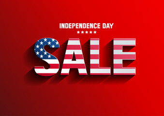 Independence Day Sale, vector illustration, you can place relevant content on the area.