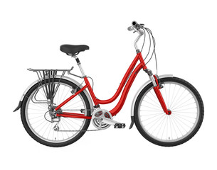Red Bicycle Isolated