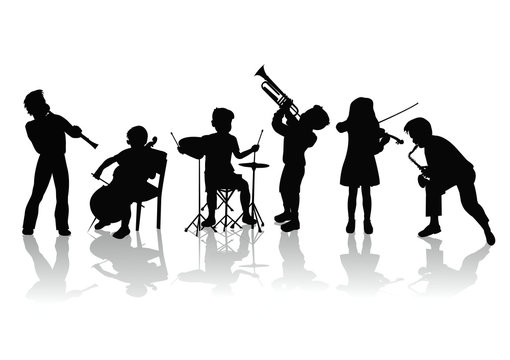vector collection of musicians silhouettes
